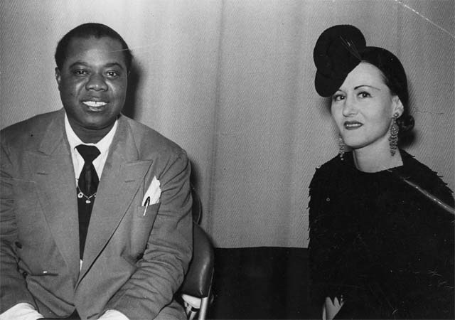 Irma Wassal With Louie Armstrong